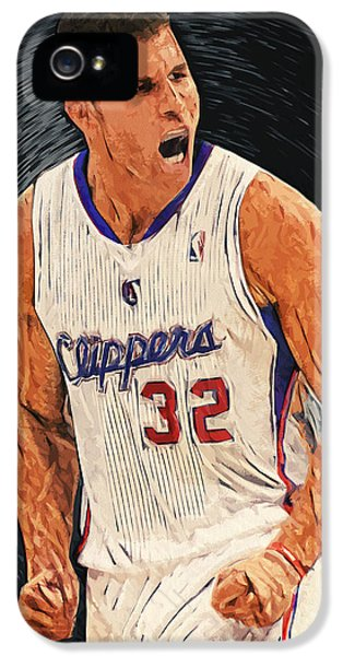 Deandre iPhone 5 Cases - Blake Griffin iPhone 5 Case by Taylan Soyturk