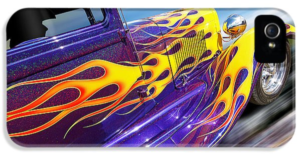1929 Roadster iPhone 5 Cases - Blazing A Trail - Ford Model A 1929 Hot Rod iPhone 5 Case by Gill Billington