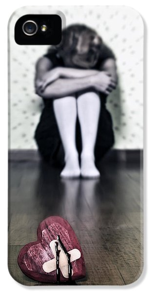 Caucasian iPhone 5 Cases - Bleeding Heart iPhone 5 Case by Joana Kruse