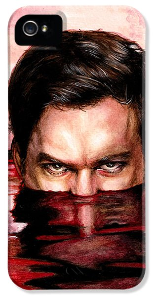Dexter iPhone 5 Cases - Blood Bath iPhone 5 Case by Lanie McCarry