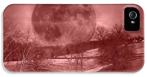 Blood Moon One Of Two IPhone 5 / 5s Case by Betsy Knapp