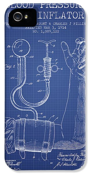 Medical iPhone 5 Cases - Blood Pressure Cuff Patent from 1914 - Blueprint iPhone 5 Case by Aged Pixel