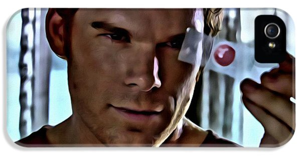 Michael C Hall iPhone 5 Cases - Blood Slide Dexter iPhone 5 Case by Florian Rodarte