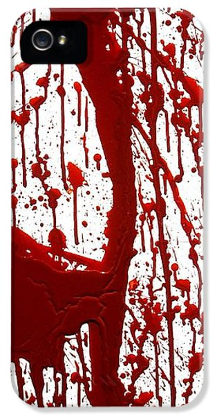 Dexter iPhone 5 Cases - Blood Splatter II iPhone 5 Case by Holly Anderson