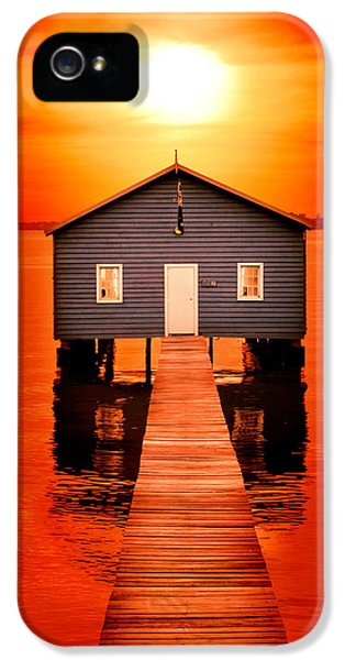 Shed iPhone 5 Cases - Blood Sunset iPhone 5 Case by Az Jackson