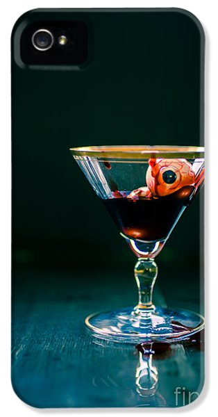 Eyeball iPhone 5 Cases - Bloody eyeball in martini glass iPhone 5 Case by Edward Fielding