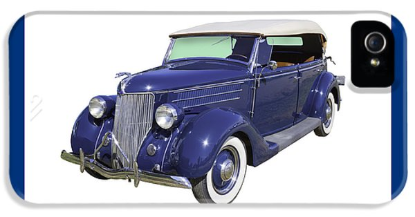 1936 iPhone 5 Cases - Blue 1936 Ford Phaeton Convertible  iPhone 5 Case by Keith Webber Jr