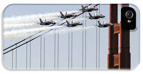 Blue Angels And The Bridge IPhone 5 / 5s Case by Bill Gallagher