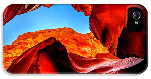 Pillar iPhone 5 Cases - Blue Ceiling iPhone 5 Case by Az Jackson