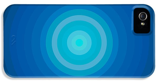 Disc iPhone 5 Cases - Blue Circles iPhone 5 Case by Frank Tschakert