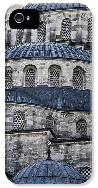 Ancient iPhone 5 Cases - Blue Dawn Blue Mosque iPhone 5 Case by Joan Carroll