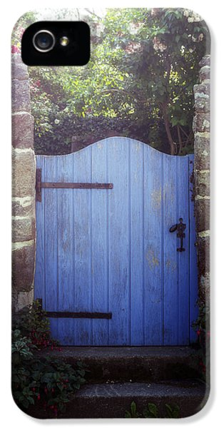 Gate iPhone 5 Cases - Blue Gate iPhone 5 Case by Joana Kruse
