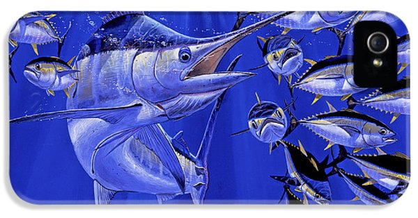 Blue Marlin Round Up Off0031 IPhone 5 / 5s Case by Carey Chen