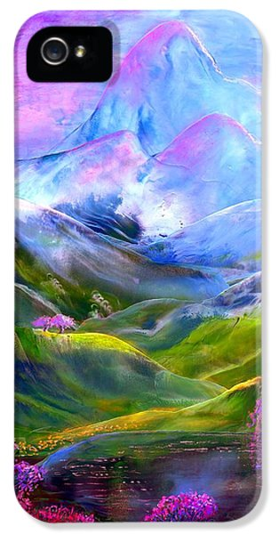 Flowering iPhone 5 Cases - Blue Mountain Pool iPhone 5 Case by Jane Small