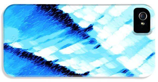 Arctic Rose iPhone 5 Cases - Blue Ocean iPhone 5 Case by Manju Lata