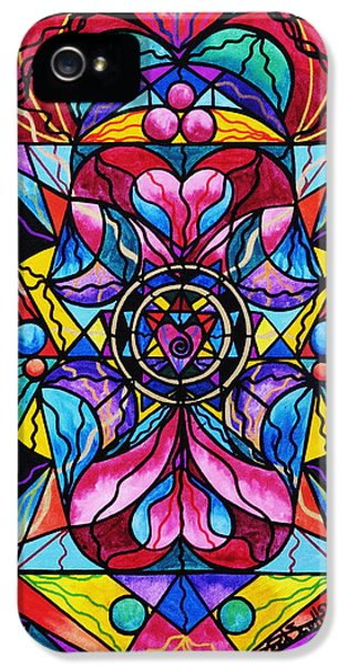 Spiritual iPhone 5 Cases - Blue Ray Healing iPhone 5 Case by Teal Eye  Print Store