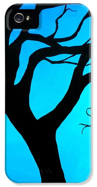 Beautiful Old Tree iPhone 5 Cases - Blue Winter iPhone 5 Case by Debi Starr