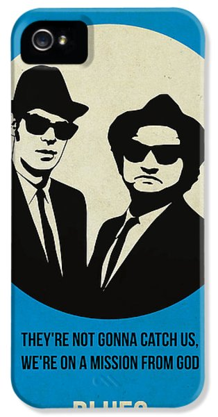 Tv Show iPhone 5 Cases - Blues Brothers Poster iPhone 5 Case by Naxart Studio