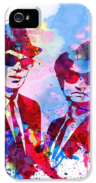 Tv Show iPhone 5 Cases - Blues Watercolor iPhone 5 Case by Naxart Studio