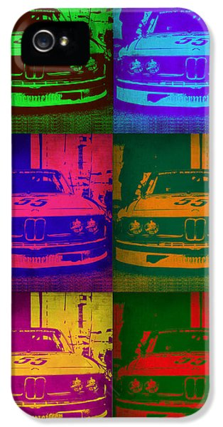 Bmw iPhone 5 Cases - BMW 2002 Front Pop Art 1 iPhone 5 Case by Naxart Studio