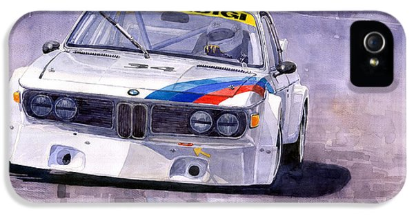 1972 iPhone 5 Cases - Bmw 3 0 Csl 1972 1975 iPhone 5 Case by Yuriy  Shevchuk