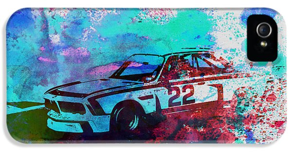 German Classic Cars iPhone 5 Cases - Bmw 3.0 Csl  iPhone 5 Case by Naxart Studio