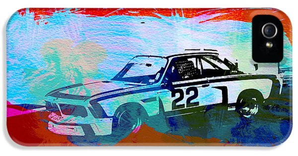 German Classic Cars iPhone 5 Cases - BMW 3.0 CSL Racing iPhone 5 Case by Naxart Studio