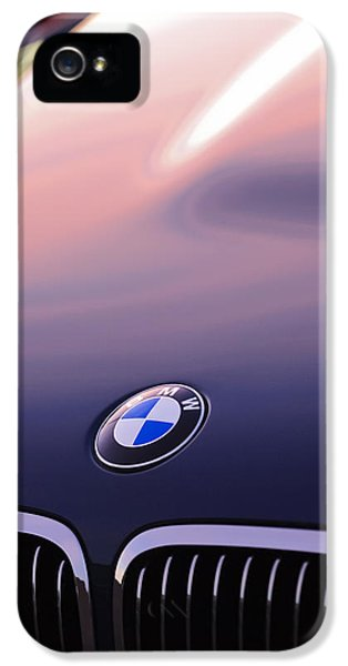 Bmw iPhone 5 Cases - BMW Hood Emblem iPhone 5 Case by Jill Reger