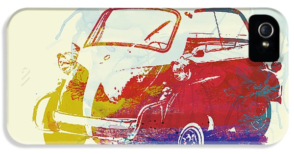 German Classic Cars iPhone 5 Cases - BMW Isetta iPhone 5 Case by Naxart Studio