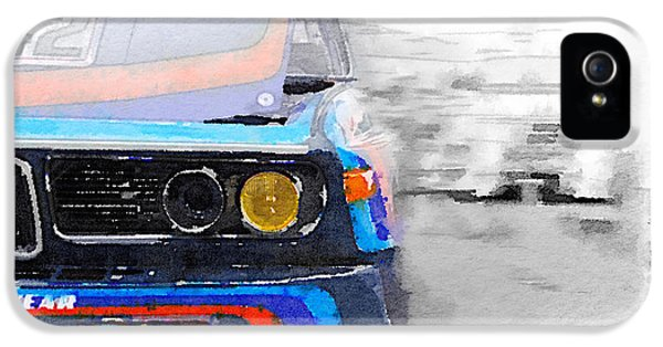 Bmw iPhone 5 Cases - BMW Lamp and Grill Watercolor iPhone 5 Case by Naxart Studio