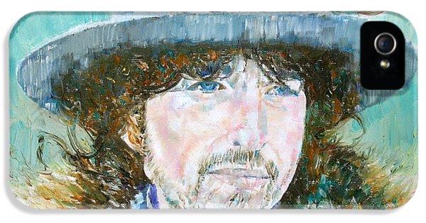 Bob Dylan Oil Portrait IPhone 5 / 5s Case by Fabrizio Cassetta