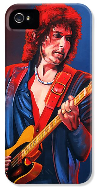 Wind iPhone 5 Cases - Bob Dylan iPhone 5 Case by Paul Meijering