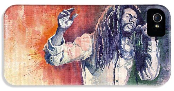 Bob Marley iPhone 5 Cases - Bob Marley 01 iPhone 5 Case by Yuriy  Shevchuk