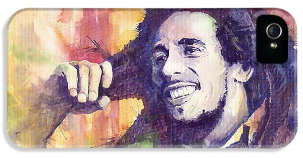 Bob Marley iPhone 5 Cases - Bob Marley 02 iPhone 5 Case by Yuriy  Shevchuk