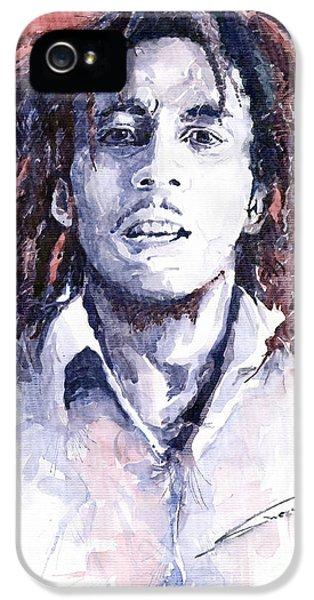 Bob Marley iPhone 5 Cases - Bob Marley 3 iPhone 5 Case by Yuriy  Shevchuk