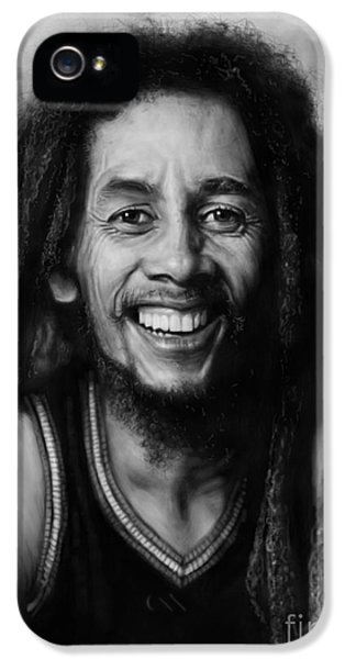Music Legend iPhone 5 Cases - Bob Marley iPhone 5 Case by Andre Koekemoer
