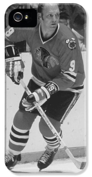 National League iPhone 5 Cases - Bobby Hull Poster iPhone 5 Case by Gianfranco Weiss