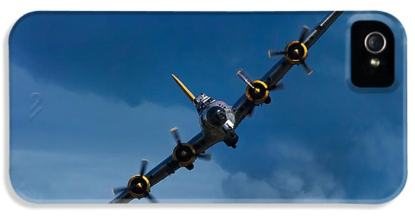 Heritage iPhone 5 Cases - Boeing B-17 Flying Fortress iPhone 5 Case by Adam Romanowicz