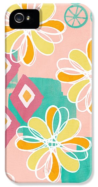 Boho Floral Garden IPhone 5 / 5s Case by Linda Woods