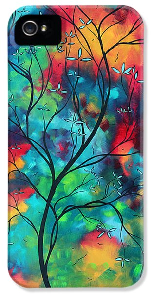 Whimsy iPhone 5 Cases - Bold Rich Colorful Landscape Painting Original Art COLORED INSPIRATION by MADART iPhone 5 Case by Megan Duncanson