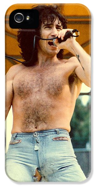 Bon Scott Of Ac Dc At Day On The Green - July 1979 IPhone 5 / 5s Case by Daniel Larsen