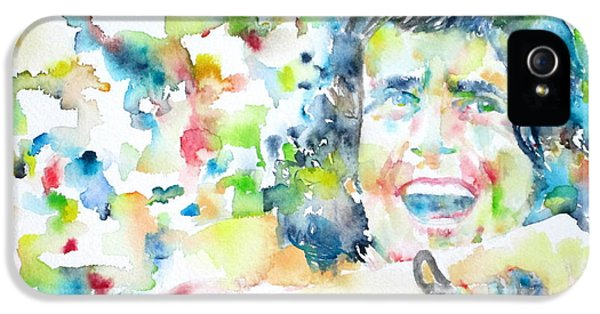 Bon Scott - Watercolor Portrait IPhone 5 / 5s Case by Fabrizio Cassetta