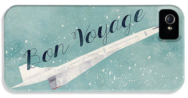 Airplane iPhone 5 Cases - Bon Voyage iPhone 5 Case by Randoms Print