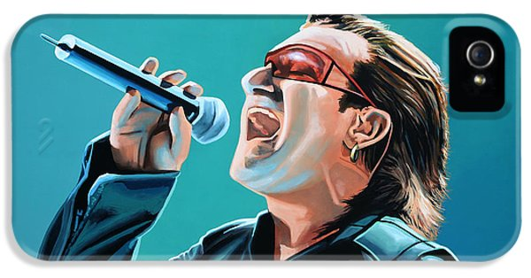 Bono Of U2 Painting IPhone 5 / 5s Case by Paul Meijering