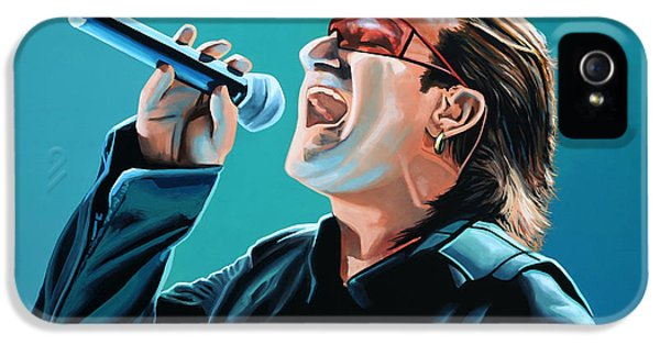 Beautiful Day iPhone 5 Cases - Bono of U2 iPhone 5 Case by Paul  Meijering