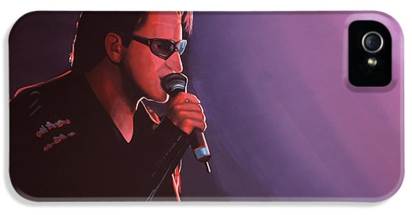 Beautiful Day iPhone 5 Cases - Bono U2 iPhone 5 Case by Paul Meijering