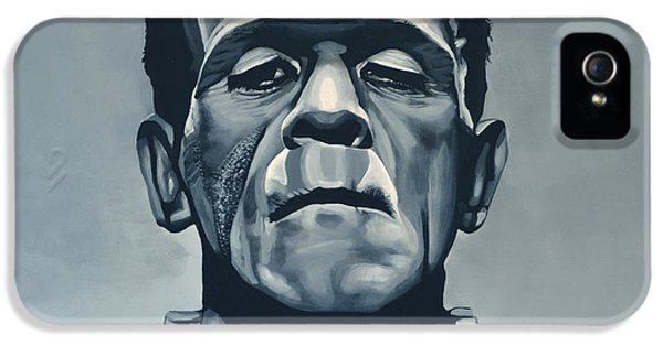 Scarface iPhone 5 Cases - Boris Karloff as Frankenstein  iPhone 5 Case by Paul  Meijering