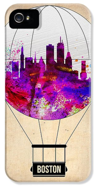Balloon iPhone 5 Cases - Boston Air Balloon iPhone 5 Case by Naxart Studio