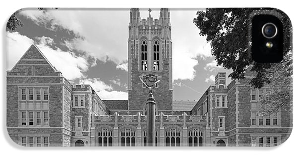 Massachusetts iPhone 5 Cases - Boston College Gasson Hall iPhone 5 Case by University Icons