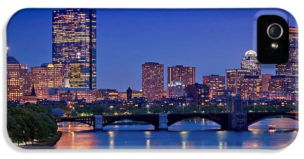 City Scene iPhone 5 Cases - Boston Nights 2 iPhone 5 Case by Joann Vitali